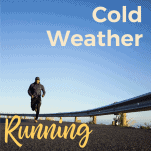man running on road in cold weather