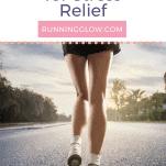 female runner on road alone