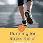 female running in street solo for stress relief