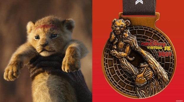 runDisney Virtual Series 2021 Lion King Reimagined Classic medal