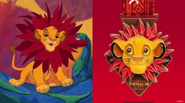 runDisney Virtual Series 2021 Lion King Timeless Classic medal