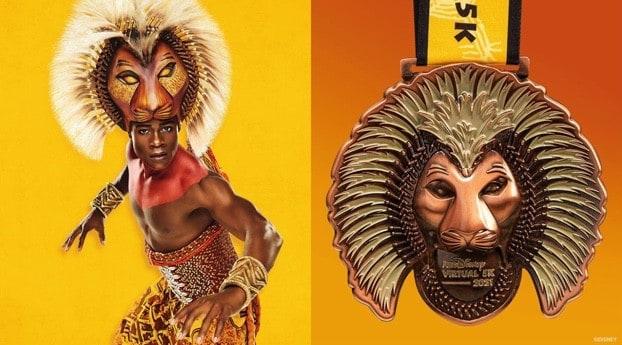 runDisney Virtual Series 2021 Lion King Broadway Musical medal