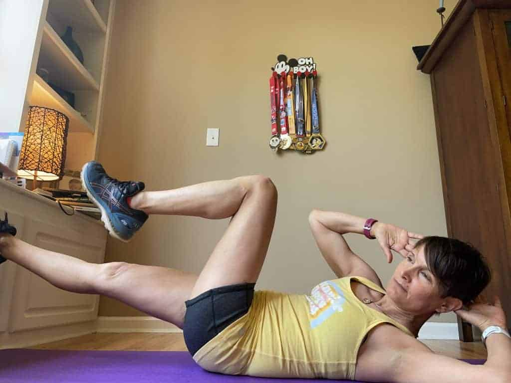 female runner bicycle exercise