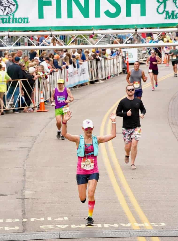 grandma's marathon finish line