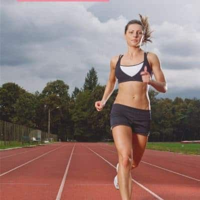 female runner on track