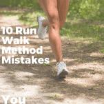 female runner's legs on a trail