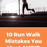 female runner using run walk method on city street