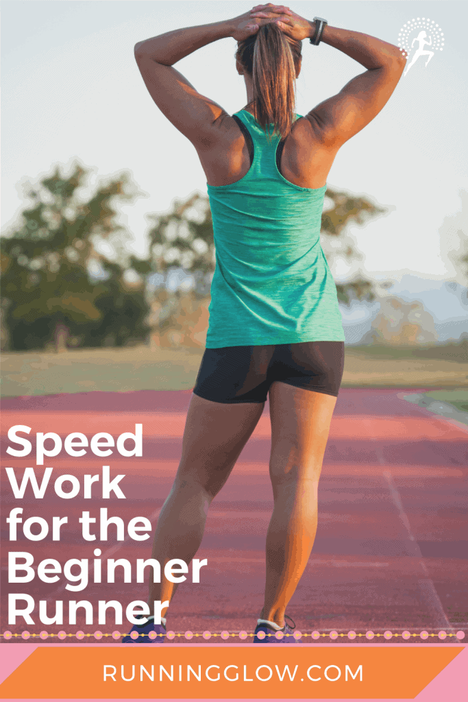 beginner female runner on a track
