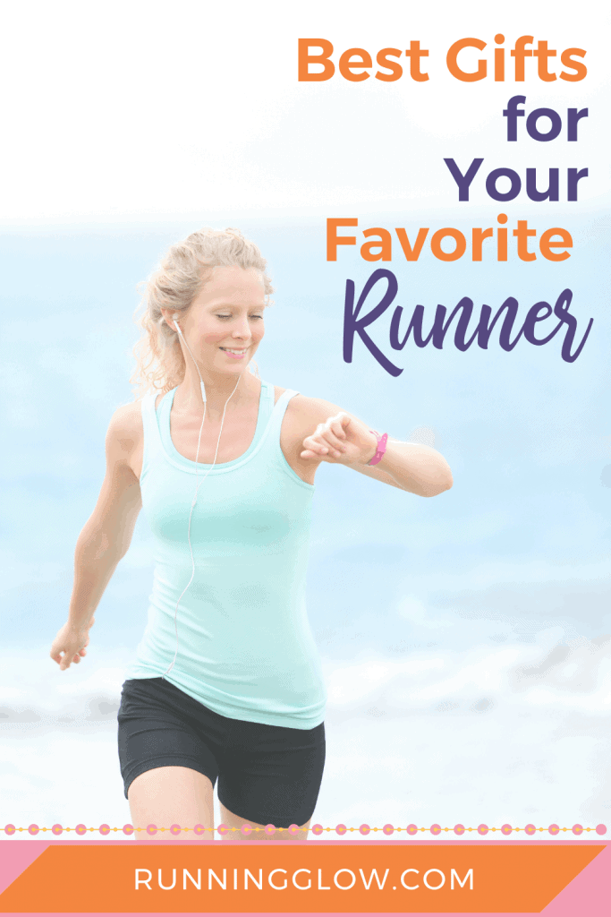 female runner with a gift