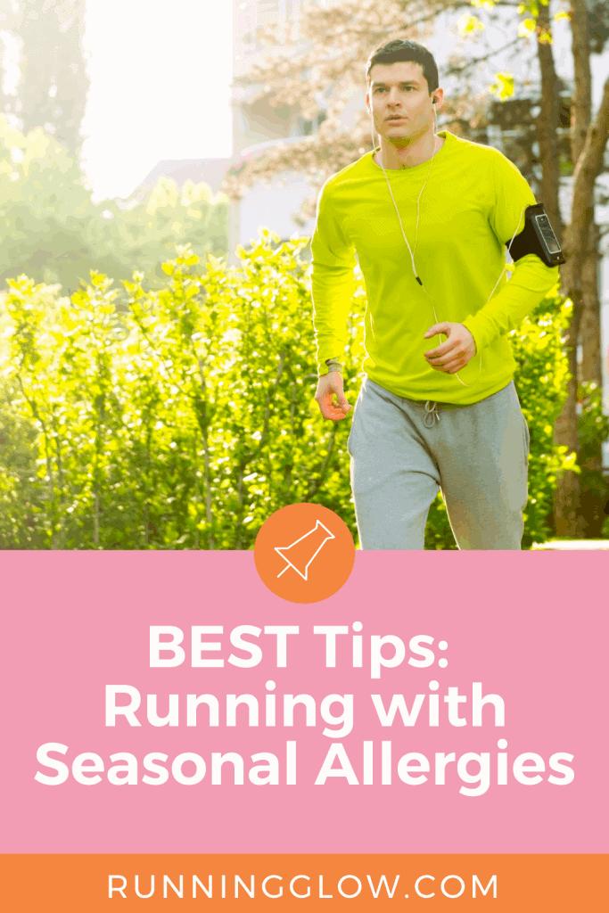 male runner outdoors spring allergies