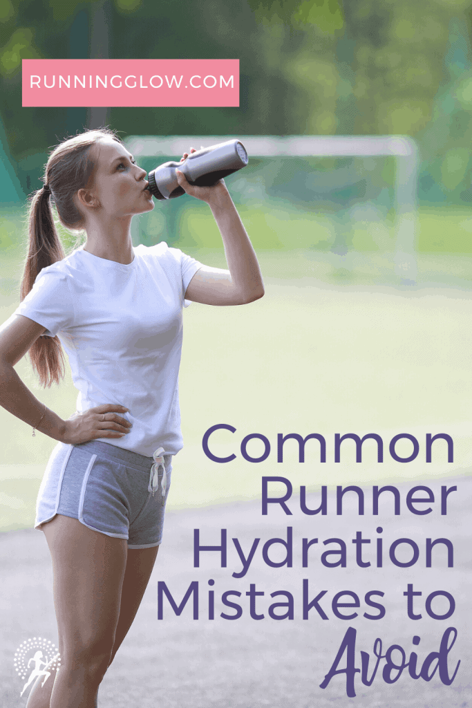 female hydrating post  run