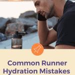 male runner hydrating