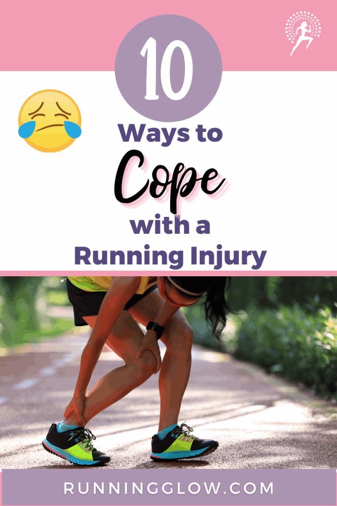 female runner holding her ankle running injury