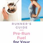 breakfast and a female runner