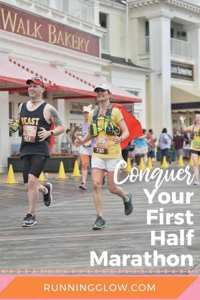 two half marathon runners at disney
