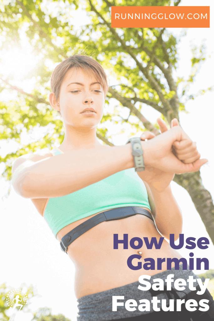 female runner garmin watch safety features