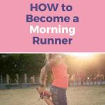 female runner stretching before morning run