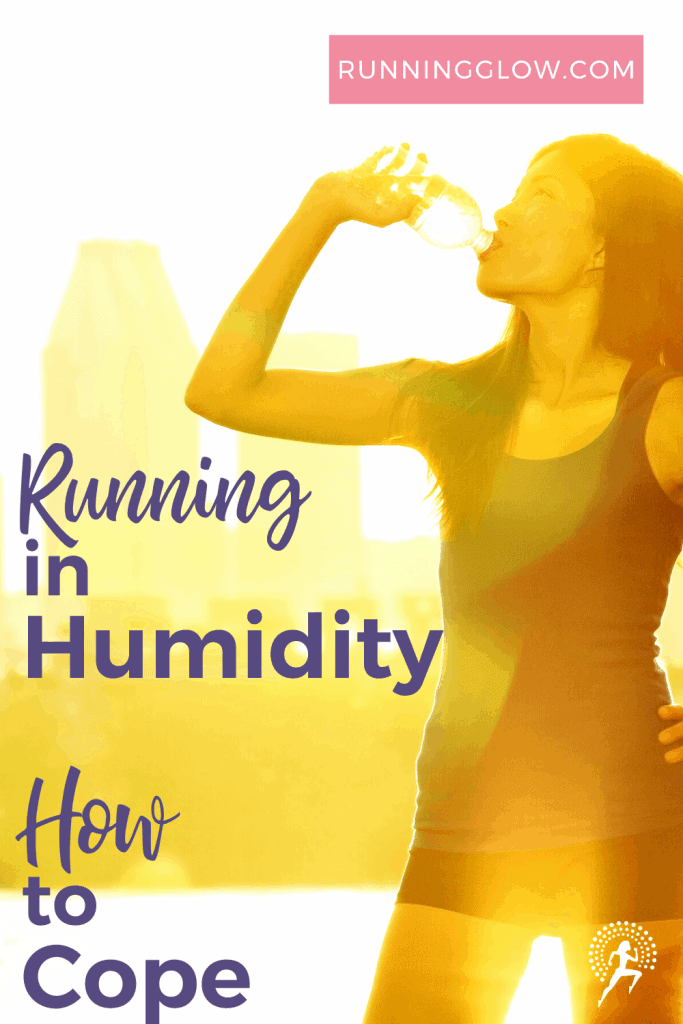 female drinking after running in humid weather