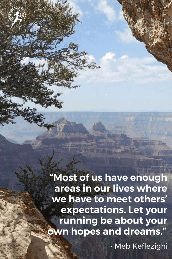 running motivational quote grand canyon