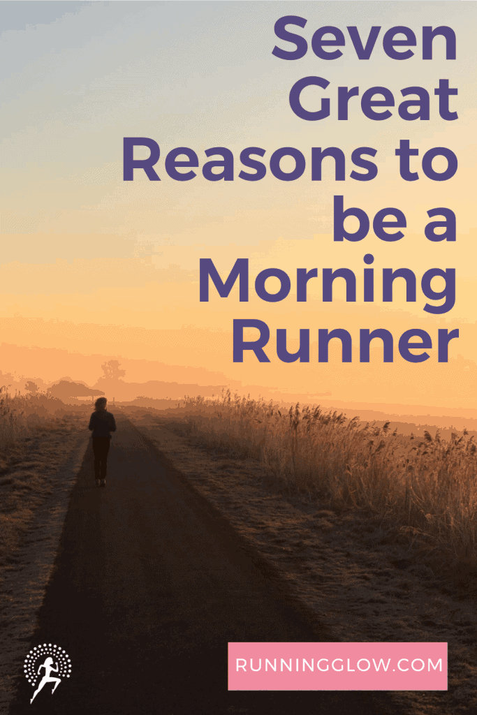 solo morning runner on country road
