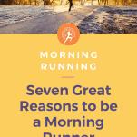 female running in morning