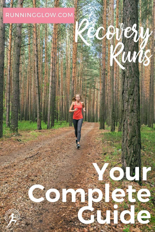 female runner on trail doing recovery run