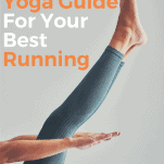 female runner yoga pose legs and arms
