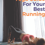 female runner yoga bridge pose floor
