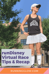female runner rundisney virtual race castle with space mountain costume