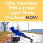 female runner doing push ups on a bench