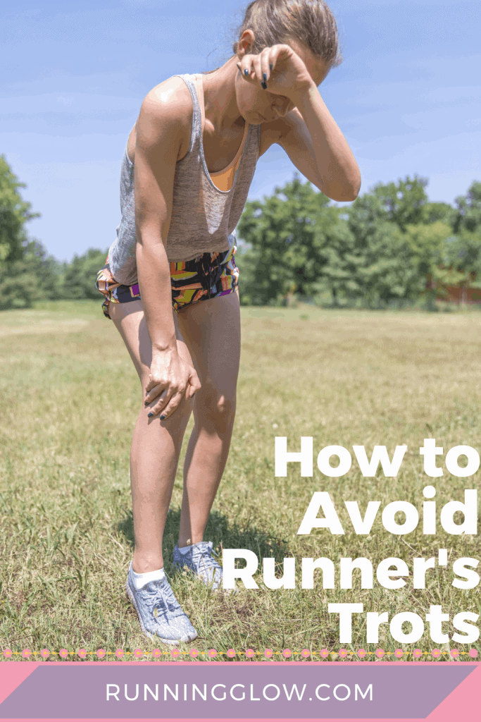 female runner stressing over runner's diarrhea