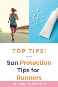 female runner sun protection bright light outdoors