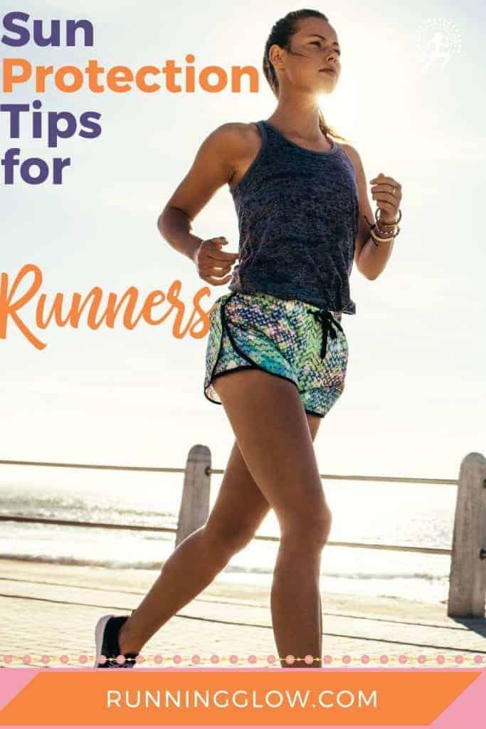 Female runner sun protection