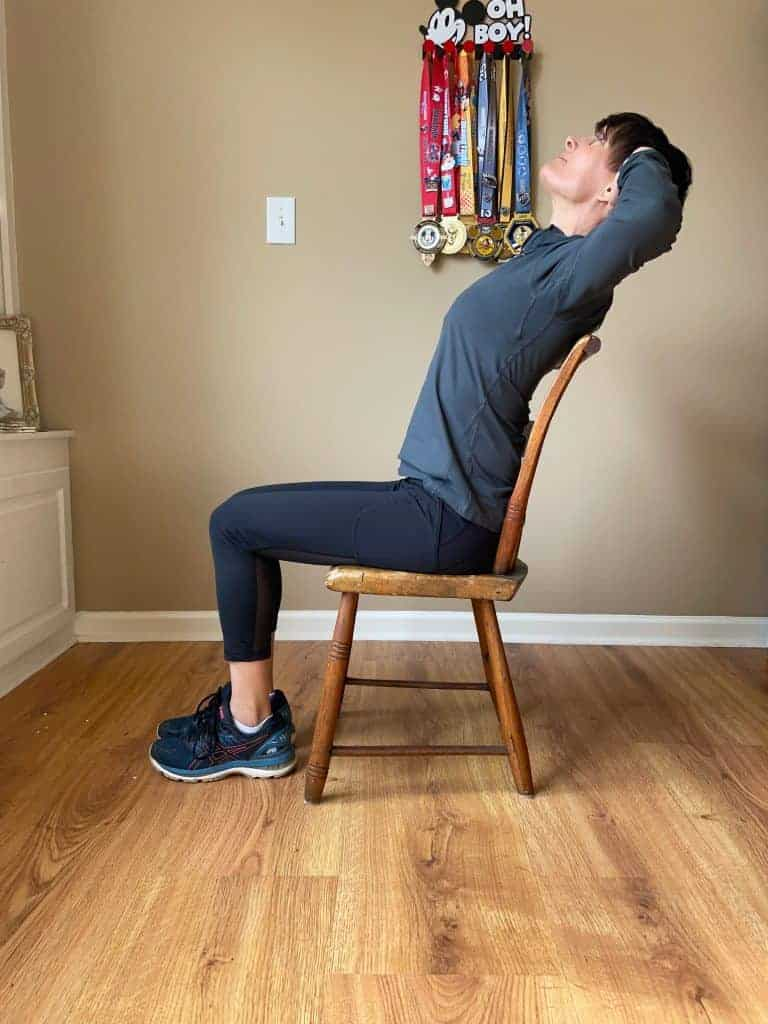 seated desk stretch thoracic runner