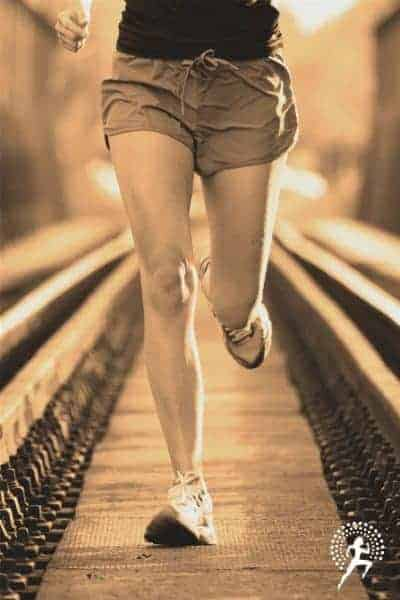 female runner running a virtual race