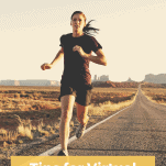 female runner on road solo